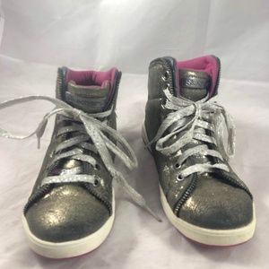 Skechers Girls Sneakers Sz 1.5 Sparkle Lace Up